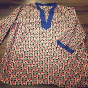 Talbots summer shirt in gorgeous print